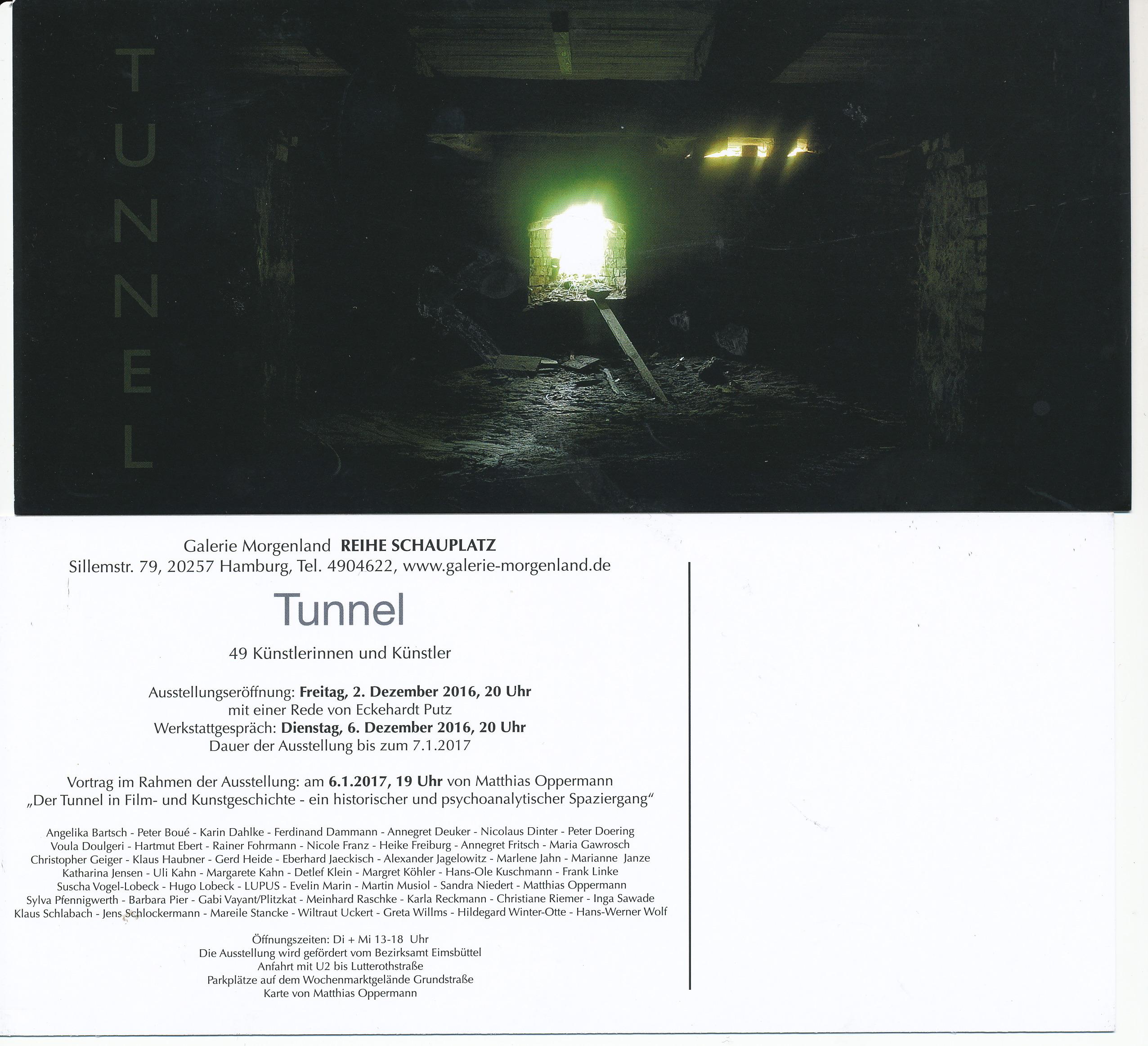 Galerie Morgenland – Reihe SchauplatzTunnel - 49 Künstlerinnen und Künstler
